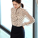 Camisa Polka Dots mujer con volantes