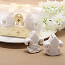 "Fleur-de-Lis"" Ceramic Salt Pepper Shakers (Set of 2)"