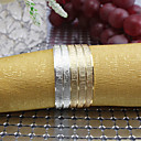 Set of 4 Pieces Multi-color Metal Iron Round Napkin Rings