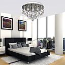 100W Luz de techo moderna elegante con 5 luces en cristal de diseño con cuentas
