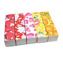 1pcs Emery Lima de Cuboid Flor Color (color al azar)