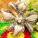 Women's Elegant Orchid Brooch