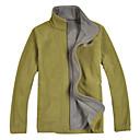 Hombres chaqueta con cremallera a prueba de viento Fleece (Bolsillos ocultos)