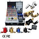 8 tatuaje kit rotatorio de la máquina con Power LCD y 40 de tinta de color
