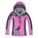 al aire libre de la chaqueta ultravioleta caliente casquillo desmontable resistente de las mujeres a prueba de viento impermeable langzuyoudang