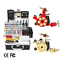 2 Cast Iron Revolver Design Tattoo Gun Kit con LCD Power (40 Color Ink)