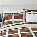 3 piezas de tela escocesa del algodón del remiendo del edredón conjunto reina bella