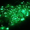 100 luz verde de la boda conducido decoración cadena (10m, 220v)