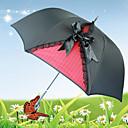 Retro Negro Gothic Lolita paraguas de encaje y Bow