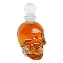 cabeza del cráneo de cristal de vino vodka 125ml botella de vidrio decantador