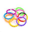 3PCS lindos conjuntos de bolas pulsera de silicona (colores ramdon)