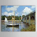 Aceite famosa pintura un puente de carretera en Argenteuil de Claude Monet