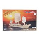 Barco de vela de madera DIY 3D Jigsaw Puzzle (Modelo: G-P045)