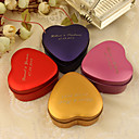 Personlized Small Heart Shaped Favor Tin - Set of 24(More Colors)