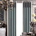 Ahorro (dos paneles) chenille energía empalme clásico cortina