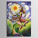 Hand Painted Lady pintura al óleo abstracta 1304-AB0459