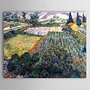 Petróleo famoso cuadro A-campo-con-amapolas de Van Gogh