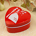 "Happy Wedding"" Red Heart Favor Tin (Set of 12)"