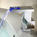 cambio de color contemporáneo del grifo llevó lavabo del baño (cascada)