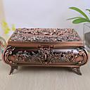 Caja de joyería de la vendimia del diseño de Rose de la aleación de las mujeres