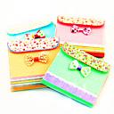 Bolsa Bowknot modelo colorido del papel del cuaderno (colores aleatorios)