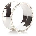 Set of 4 Modern Luxury Zinc Alloy Napkin Ring
