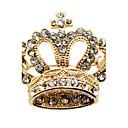 Aleación preciosa con broche de Crystal Crown Mujeres