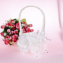 Beautidul cesta de la flor con la flor de satén
