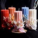 velas de colores con flores