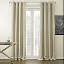 apagón cortina sólida minimalista (un panel superior ojal)