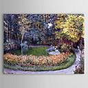 Famosa pintura al óleo en el jardín de Claude Monet