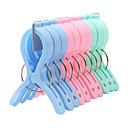 10PCS Clips de plástico de colores