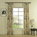 Ahorro (dos paneles) de marfil de impresión energía floral cortina