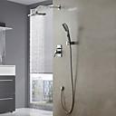 ducha conjunto de montaje en pared grifo de cromo contemporáneo