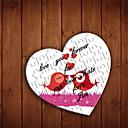 Corazón en forma personalizada Jigsaw Puzzle - Los pájaros del amor