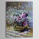 Famosa pintura Flores aceite en una olla (también conocido como Rosas y la respiración del bebé) por Claude Monet