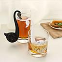 colador de té en forma de cucharadita de cisne (color al azar)