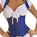 Azul Algodón Classic Lolita Corset con tirantes