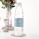 Agua personalizada Etiqueta Botella - Estrella de mar (azul / Juego de 15)