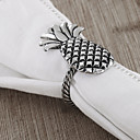 Set Of 4 Pineapple Napkin Ring