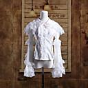 Cabo de hombro de manga larga blanca de algodón dulce lolita Blusa
