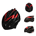 2013 Nuevos Materiales PC Diseñado Cascos Ciclismo Rojo (23 Vents) Ajustable y negro mate