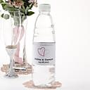 Agua personalizada Etiqueta Botella - Double Heart (rosa / Juego de 15)