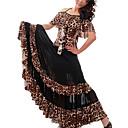 Dancewear impreso leopardo viscosa Faldas de baile moderno para las señoras