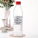 Agua personalizada Etiqueta Botella - El día de la boda (Negro / Juego de 15)