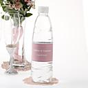 Agua personalizada Etiqueta Botella - Pin Dot (rosa / Juego de 15)