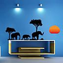 Tres elefante en la oscuridad etiqueta de la pared