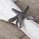 Set Of 4 Starfish Napkin Ring