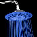 8 de pulgada contemporánea una nota de color abs cambio de la cabeza llevó ducha de lluvia