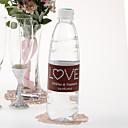 Agua personalizada Etiqueta Botella - Love (Brown Azul / Juego de 15)